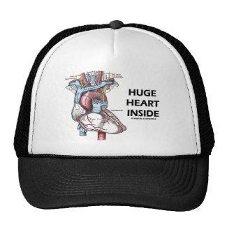 Huge Heart Inside Mesh Hats