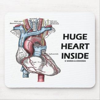 Huge Heart Inside Mousepad