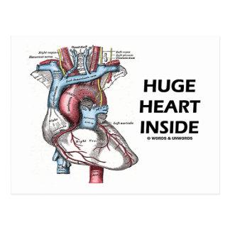 Huge Heart Inside Postcard