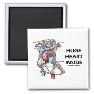 Huge Heart Inside Refrigerator Magnets