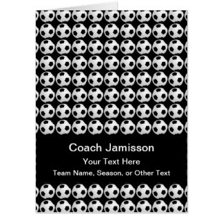 HUGE JUMBO Soccer Coach Thank You from Team Card