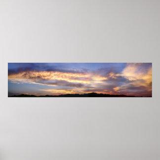 Huge Laughlin Panorama Sunset Poster