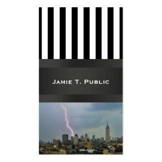 Huge Lightning Strike Over Midtown NYC Skyline Business Card Template