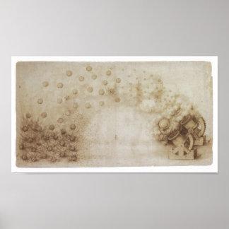 Huge Mortars with Explosive Projectiles, da Vinci Poster