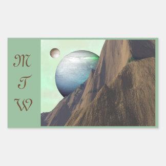 Huge Mountain Alien World Stickers