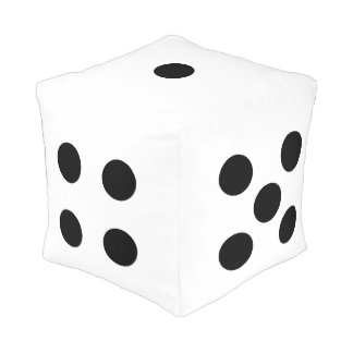Huge Novelty Dice Square Cube Pouf