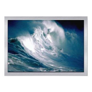 Huge Ocean Rogue Wave Painting Card