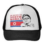 huge only in north korea - kim jong il trucker hat
