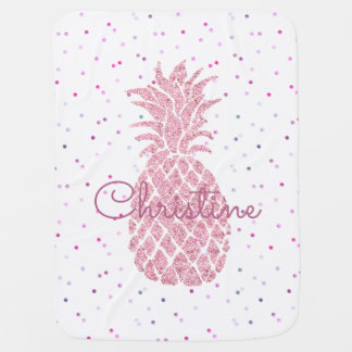 huge pink pineapple girly receiving blanket