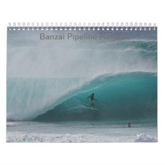 Huge Pipeline Winter Surf Calendar