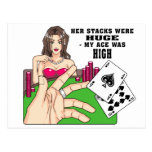 Huge Poker Stacks Postcard