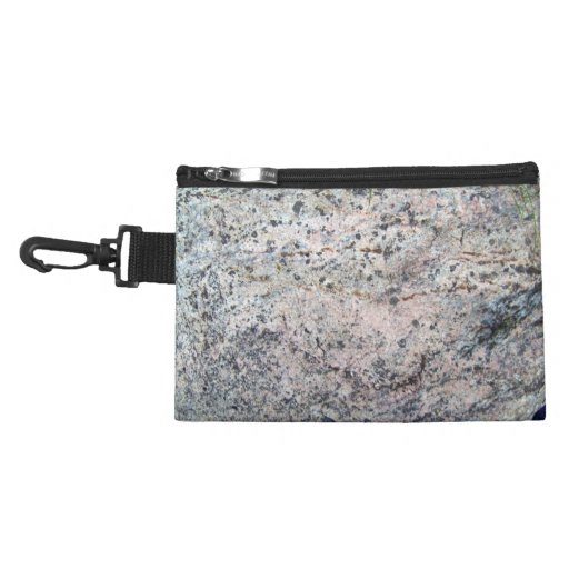 Huge Rock with Lichens and Grass at Top Accessory Bag