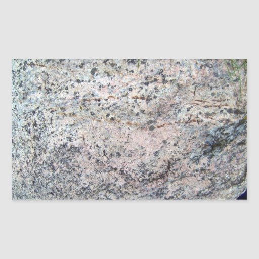 Huge Rock with Lichens and Grass at Top Rectangle Sticker