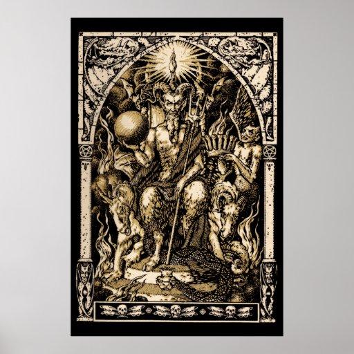 HUGE Satan Enthroned Wall Art 40x60 Posters