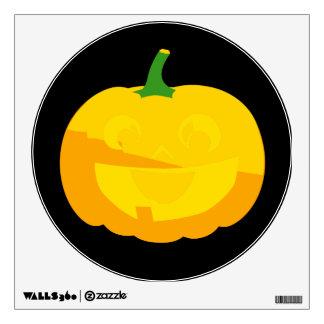 Huge Smile Jack-O-'Lantern Wall Sticker