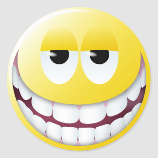 Huge Smile Smiley Face Stickers