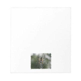 Huge Spider / Yellow & Black Argiope Notepad