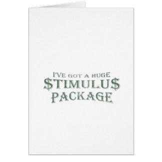 Huge Stimulus Package Card