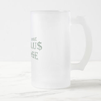 Huge Stimulus Package Frosted Glass Beer Mug