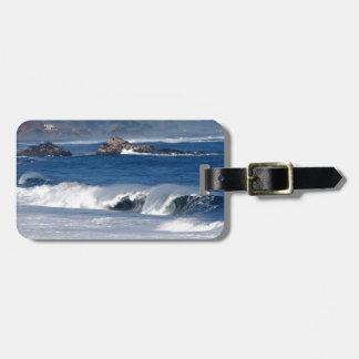 Huge surf on Chile coastline Bag Tag