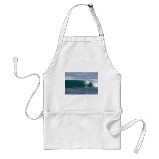 Huge surf, surfing paradise tropical green waves aprons