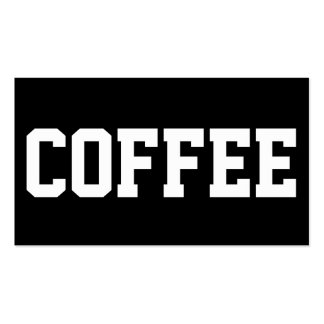 Huge Text Simple Coffee Superstar Punchcard Double-Sided Standard Business Cards (Pack Of 100)