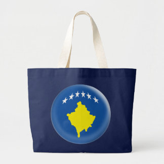 Huge Tote Bag with Kosovo flag