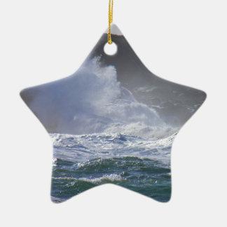 Huge Wave Ceramic Ornament