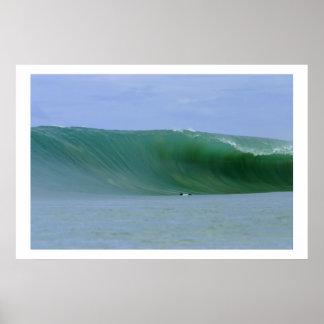 Huge Wave Nias Island Poster