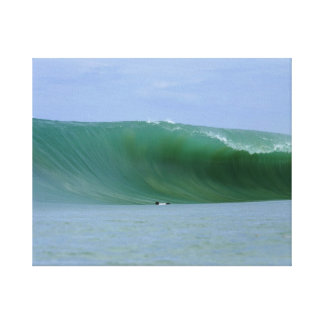 Huge Wave Nias Island Surfing Canvas