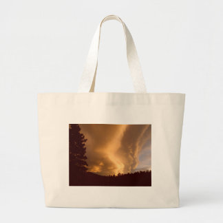 Huge Yellow Clouds Sunset Tote Bags