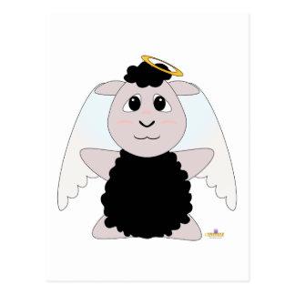 Huggable Angel Black Sheep Postcard
