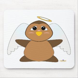 Huggable Angel Brown Owl Mouse Pad