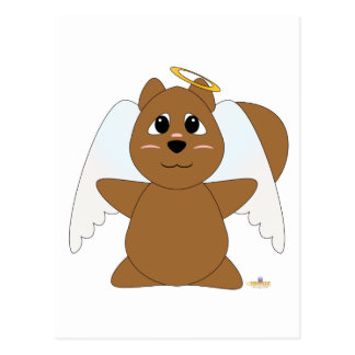 Huggable Angel Brown Squirrel Postcard