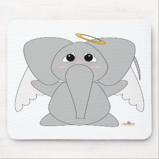Huggable Angel Elephant Mouse Pad
