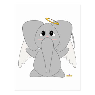 Huggable Angel Elephant Postcard