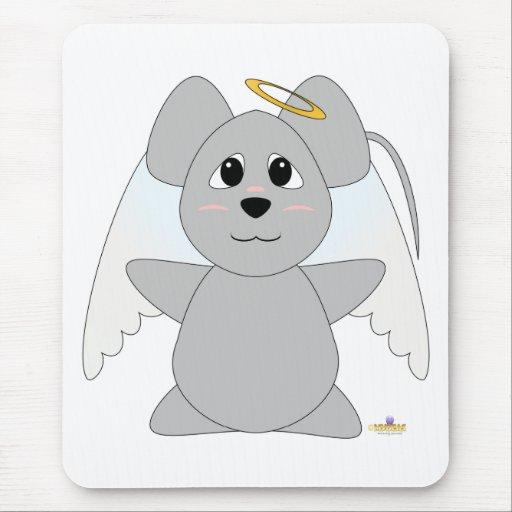 Huggable Angel Gray Mouse Mouse Pad