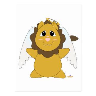 Huggable Angel Lion Postcard
