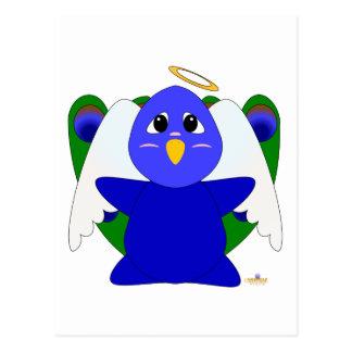 Huggable Angel Peacock Postcard