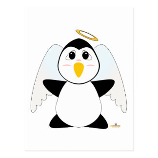 Huggable Angel Penguin Postcard