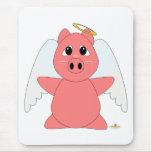 Huggable Angel Pink Piglet Mouse Pad