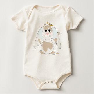 Huggable Angel Tan Cat Baby Bodysuit