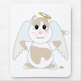 Huggable Angel Tan Cat Mouse Pad