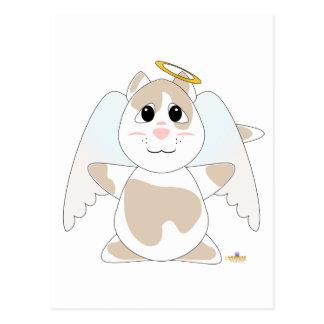 Huggable Angel Tan Cat Postcard