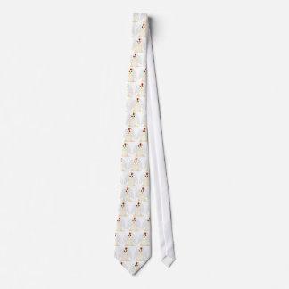 Huggable Angel White Chicken Neck Tie