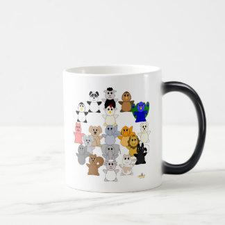 Huggable Animal Peace Sign Magic Mug
