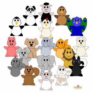 Huggable Animal Peace Sign Cut Outs