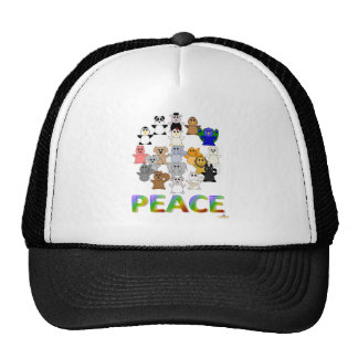 Huggable Animals Peace Sign Peace Hats