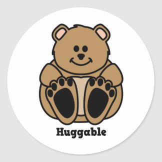 Huggable Bear Classic Round Sticker