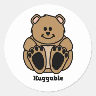 Huggable Bear Round Stickers